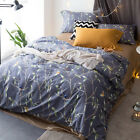 Leaves Quilt Doona Duvet Cover Set Queen/King Size Bed Linen Long-Staple Cotton