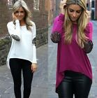 Sexy Womens Casual Long Sleeve Loose Tops Blouse Plus Size T Shirt Fashion Shirt