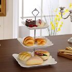 1x 2 or 3 Tier Sliver Cake Plate Stand Cupcake Fittings Silver Wedding Party