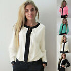 Sexy Fashion Womens V-Neck Chiffon Long Sleeve Tee Shirt Casual Loose Blouse Top
