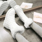 New Sweet womens winter fur furry ankel boots pull on warm fur lined Shoes US4-9