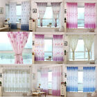 Cute Various Style Patterns Print Sheer Window Curtains For Living Room Bedroom