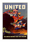 United Nations Fight for Freedom #1 - Reproduction WWII US Propaganda Poster