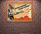 More Metal, More Weapons! - Vintage Soviet WWII Propaganda Poster
