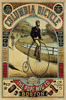 Columbia Bicycle Advertisement Poster - Canvas Art Print Not Framed A1
