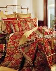 6pc Magnificent Asian Art Burgundy Comforter Set Queen  King Cal King