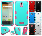 For Alcatel OneTouch Elevate IMPACT TUFF HYBRID Protector Case Skin Phone Cover