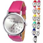 Hot!luxury gifts Funny Comment Women Men Wrist Watches,Who Cares Im Already Late