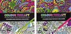 Adult Colouring Books Colour Therapy Anti Stress Patterns Flowers Doodles 384030