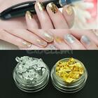 12 x Gold Silver Flakes Leaf Foil Nail Art Paper Tips Craft Stickers Decoration