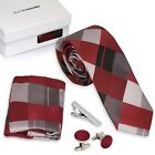 Bundle Monster 4pc Mixed Design Matching Pattern Mens Fashion Accessories Set