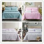 5 Designs King Size Quilted Bedspread/ Coverlet Set New 100%Cotton 240*260cm 3PS