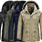 Winter Men Jacket Casual Outwear Hooded Warm Wadded Padded Down Parka Coat XS~L