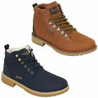Mens Boots Rock & Religion High Top Ankle Shoes Lace Up Leather Look Designer