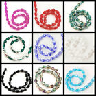 "*11x7mm Crystal Faceted Teardrop Beads 13"" Pick your color"
