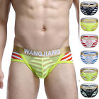 8COLORS+S M L XL New Mens Sexy Stripe Underwear Bulge Briefs Shorts Underpants