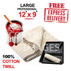 *LARGE (12ft x 9ft) PROFESSIONAL QUALITY 100% COTTON TWILL DUST SHEETS 24HR DEL!