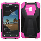For Alcatel ONETOUCH Fierce XL Turbo Layer HYBRID KICKSTAND Rubber Case Cover