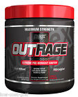 Nutrex OUTRAGE Pre Workout Strong Intense Energy Focus Pump Strength 30 servings