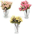 2 Bouquets Artificial Rose Flowers Wedding Party Garden Craft DIY Decoration