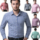 Classic Business Mens Casual Slim Fit Long Sleeve Dress Shirts Button Front Tops