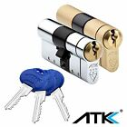 Avocet ATK High Security Euro Cylinder UPVC Door Lock Anti Snap 3 Star TS007