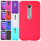 For Motorola Moto G 3rd Gen Rubberized HARD Protector Case Snap On Phone Cover