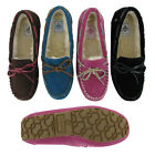 Groove Comfy Women's Slippers Moccasins Faux Sheepskin Suede Faux Fur