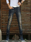 Fashion Casual Mens Stylish Designed Scratched Pencil Jeans Trousers Jean Pants