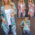 Women's Waterfall Cardigan Long Sleeve Knitted Sweater Outwear Loose Jacket Coat