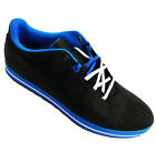 Adidas Zeitfrei Men's Black And Blue Lace Up Perforated Toe Cap Trainers New