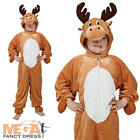 Reindeer Rudolf Kids Boys Girls Fancy Dress Christmas Animal Childs Costume 3-13