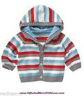 Gymboree NWT Multi-Color STRIPED HOODIE DRESS SWEATER CARDIGAN 0 3 6 Months