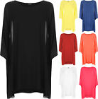 New Womens Plus Chiffon Sheer Lined Baggy Tunic Kaftan Ladies Poncho Top 8-26