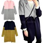Women Stand Collar Long Sleeve Knitted Cardigan Outwear Jackets Coat 3Colors