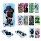 Elephant Dog Flowers Glitter Soft TPU Silicone Rubber Gel Cover Case For Phones