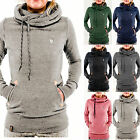 Womens Long Sleeve Hoodies Sweatshirt Pullover Casual Jumper Hooded Coat Outwear