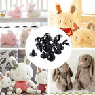 100pcs 6-20mm Black Plastic Safety Eyes For Teddy Bear/Dolls/Toy Animal/Felting
