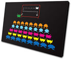 Gaming Space Invaders Pop Abstract SINGLE CANVAS WALL ART Picture Print VA