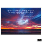 Inspirational Quotes Bible Religion BOX FRAMED CANVAS ART Picture HDR 280gsm