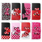 Bowknot Kawaii Terrific Card Pocket Stand PULeather Case Cover For Multi Phones