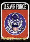 AUTHENTIC US AIR FORCE 3 X 4 EMBROIDERED PATCH USAF PIN