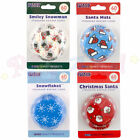 PME - CHRISMAS Cupcake / Muffin / Bun Cases - Pack of 60 - Cake Decorating