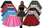 "Stars Or Skulls Polka Dot 15""  Skater Skirt Fancy Dress Plus Size 14-18"