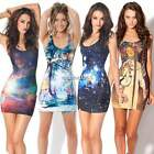 Fashion Women Space Galaxy top The Hobbit Middle Earth Map Mini Short Dress