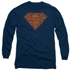 Superman DC Comics Messy S Adult Long Sleeve T-Shirt Tee