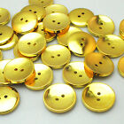 New 10/30/50pcs Gold Round Plastic Buttons 2 Holes Sewing Craft 25mm