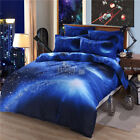 Galaxy Doona/Quilt Cover Pillowcases Set Double Queen King Size Bed Duvet Covers