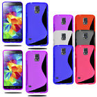 Slim Soft Wave Gel Case Soft Phone Back Cover For Samsung Galaxy S5 Neo & Screen