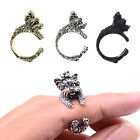 CHIC Poodle Dog Wrap Ring Punk Knuckle Rings For Lady Fashion Jewelry Adjustable